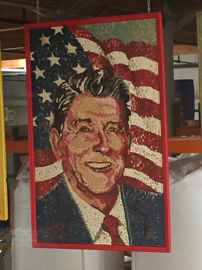 The famous Reagan Jelly Belly portrait